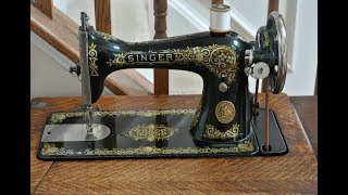 1924 Singer Model 15-30 Sewing Machine w/Zigzag Attachment