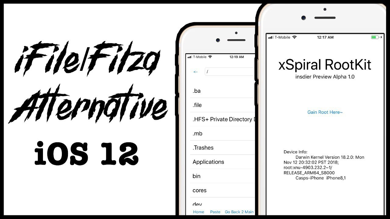 New iOS 12 iFile/Filza Alternative No Jailbreak (xSpiralJB) 2019