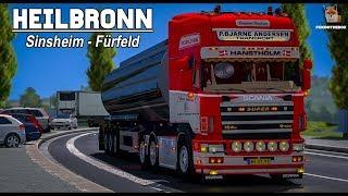 ETS2 1.30 Heilbronn 1:1 Map Sinsheim - Fürfeld Scania 164G 580 | Euro Truck Simulator 2
