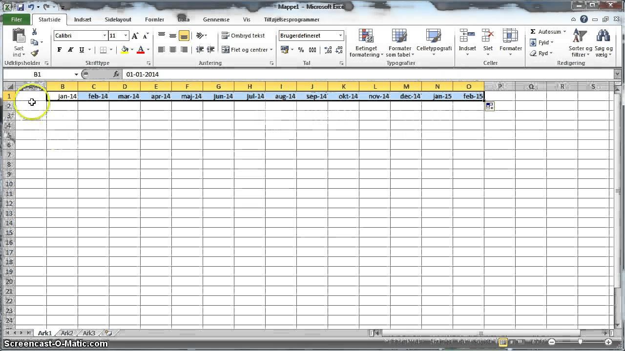 Budget Autoudfyld Dato I Regneark Og Inds 230 T Ekstra