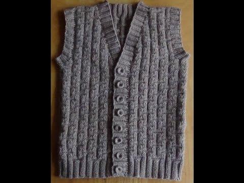 Мужской жилет спицами - Часть 1. Vest Knitting For Men