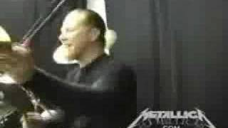 James Hetfield playing the drums [2008]