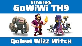 Clash of Clans - Strategi GoWiWi TH9 | Serangan War Gowiwi TH9 [Indonesian]