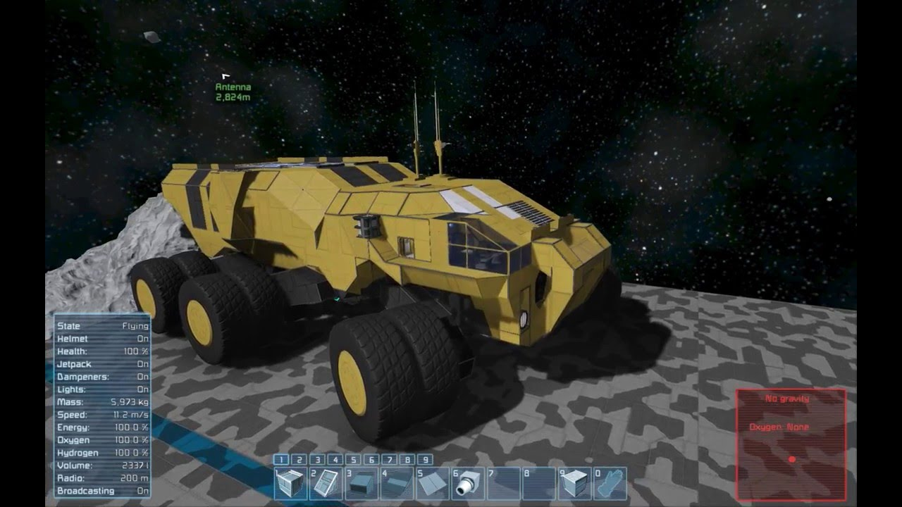 Space Engineers Building Land Vehicles
