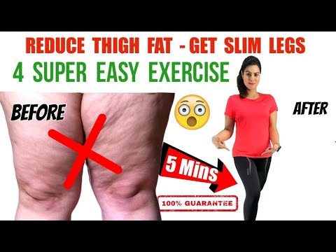 4 Simple Exercises To Lose Thigh Fat Fast at Home | जाँघ और पैर की चर्बी कम करें -Easy Thigh Workout