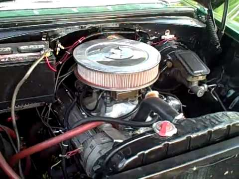 Chevrolet Bel Air >> 1956 Chevy Nomad engine compartment - YouTube