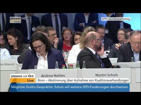 SPD-Bundesparteitag: Abstimmung über die Aufnahme von Koalitionsverhandlungen vom 21.01.2018