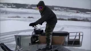 самодельные снегоходы. покатушки