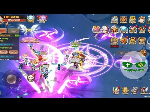 Light Chaser (Android IOS APK) - MMORPG Gameplay, Knight Lv.1-45