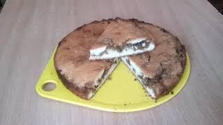 Сладкий пирог с халвой