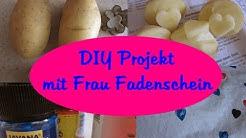 DIY Projekt mit FRAU FADENSCHEIN - SCHALTUCH bedrucken mit STEMPEL (KARTOFFELDRUCK) | COCONUT210379)