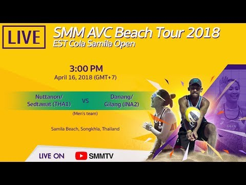 Nuttanon/Sedtawat(THA1) Vs Danang/Gilang(INA2) | SMM AVC Beach Tour 2018 | April 16 (Thai Dub)