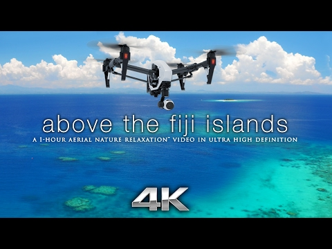 """Above the Fiji Islands"" Aerial Nature Relaxation™ Ambient Film w/ Music by Darshan Ambient -Slow-TV"