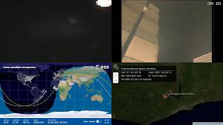 South Atlantic Sunrise - NASA/ESA ISS LIVE Space Station With Map - 492 - 2019-02-19