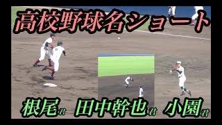 甲子園を沸かせた遊撃手!根尾選手・田中幹也選手・小園選手の守備まとめ!