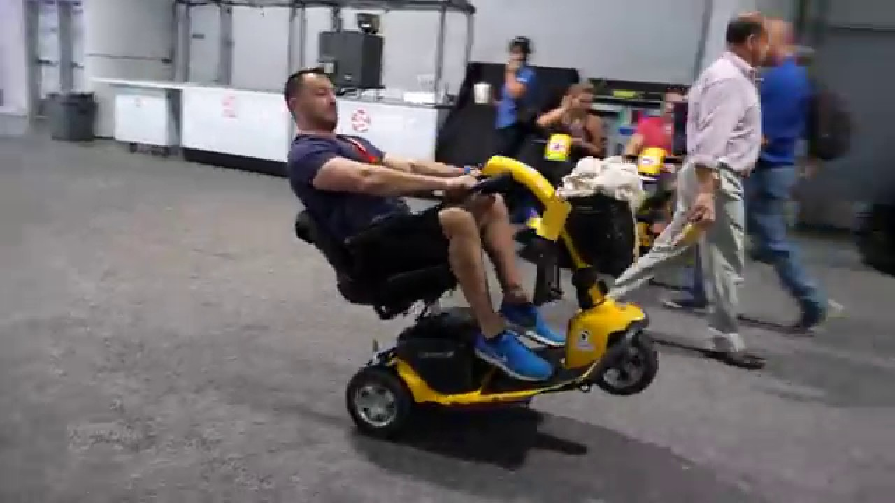 Mobility Scooter Wheelie Crash At Sema 2017