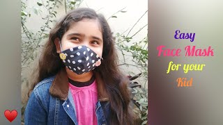 Easy Face Mask for your kid Make Face Masks at home Daily Art