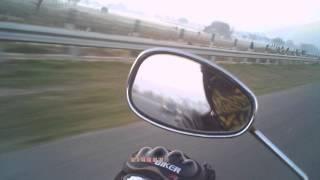 Morning Ride at Yamuna Express Way Delhi to Agar Highway parallel to National Highway NH-2 India