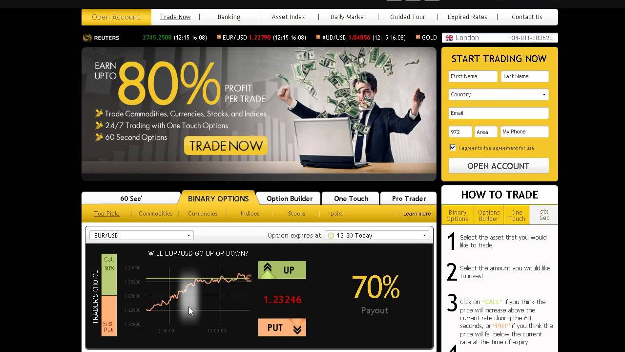 Risk free binary option trading