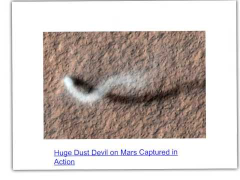 global dust storms on mars