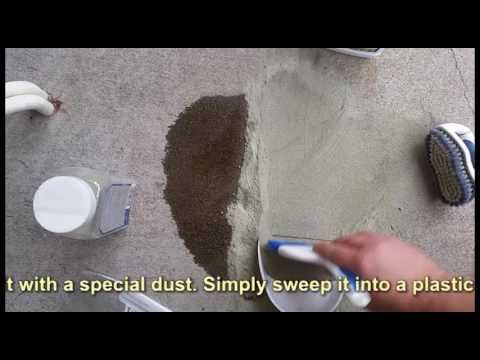 How to remove oil stains from concrete driveway youtube for Grease stains on concrete