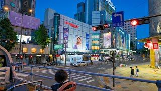 [4K HDR] Cross the Moonlight Han River on a Night Tour Bus in Seoul Korea