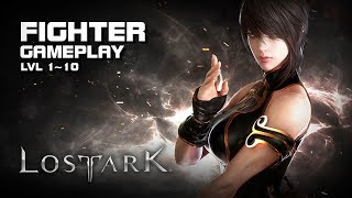 Lost Ark - Fighter lvl 1~10 - Starting Zone Gameplay - Final CBT - PC - F2P - KR