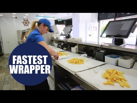 Fish Shop Worker Sets New Record To Become World's Fastest Chip Wrapper