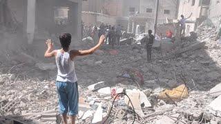 ضربات النظام السوري الجوية