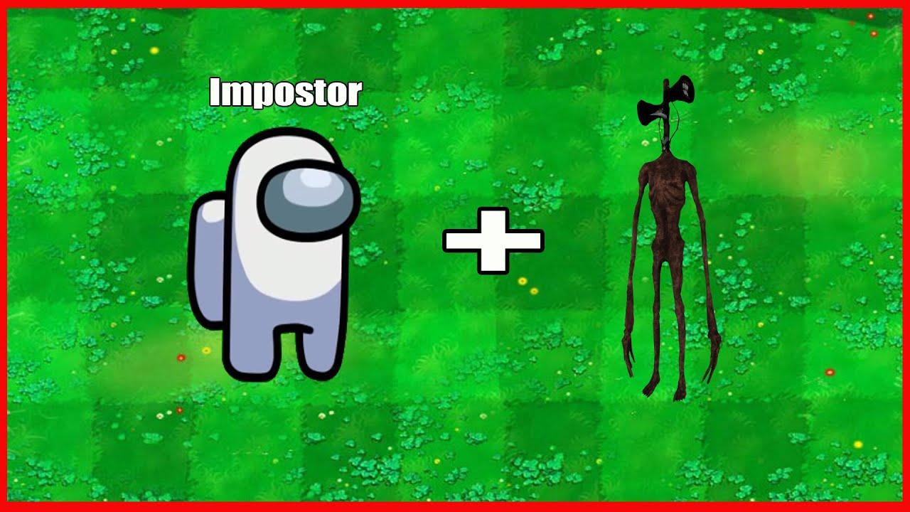 (Among-Us-Impostor + Siren Head) Fusion Hack Plants Vs Zombies Animation