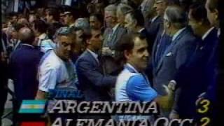 Argentina Campeón del Mundo 1986 - Vuelta olímpica - Entrega de la Copa y medallas -
