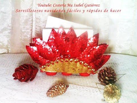 Servilleteros navide os f ciles y r pido de hacer diy for Como hacer adornos navidenos faciles