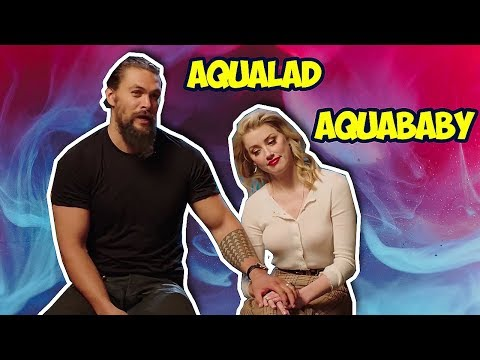 Amber Heard Can't Stop Flirting With Jason Momoa (AQUAMAN)