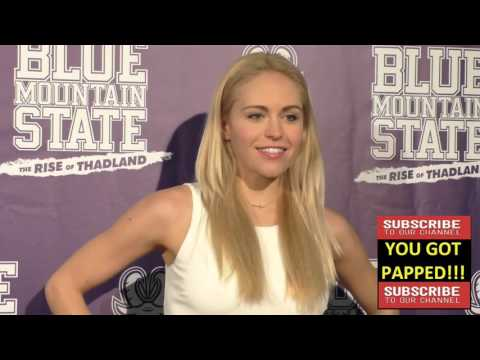 Lindsey Sporrer arriving to the Blue Mountain State The Rise Of Thadland Premiere at Fonda Theatre i