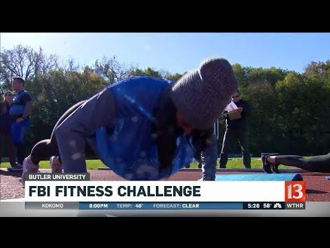 Taylor takes the FBI Fitness Challenge
