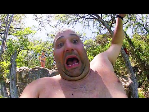 Frio River Cliff Jumping Kayaking Concan Tx Gopro Footage