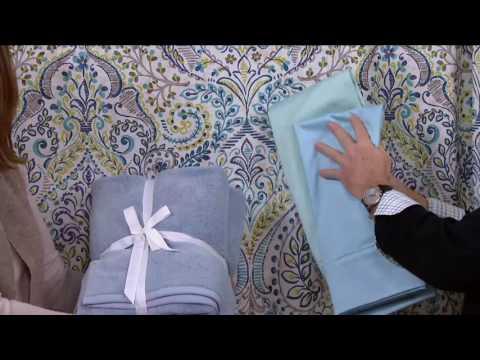 Modern Bath Set with Bath Rug, Shower Curtain and Twelve Hooks on QVC
