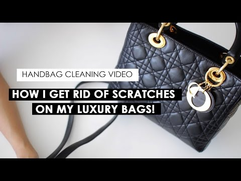 HOW TO CLEAN LAMBSKIN LUXURY BAGS | HOW I BUFF OUT SCRATCHES