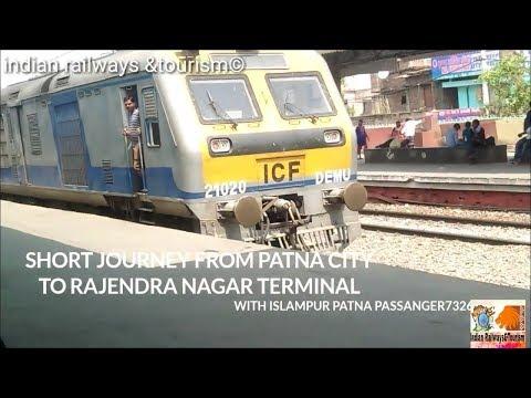 Short journey between patna saheb and rajendra nagar terminal with ipr -pnbe DEMU train