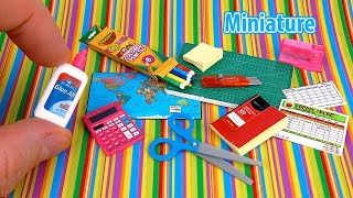 DIY Realistic Miniature Back To School Supplies Pack | DollHouse