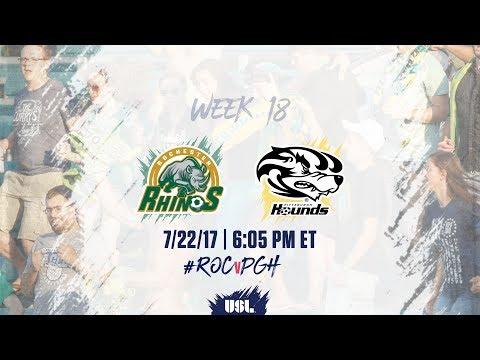 USL LIVE - Rochester Rhinos vs Pittsburgh Riverhounds 7/22/17