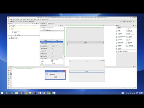 Creating First Java Swing GUI Application with IntelliJ IDEA IDE