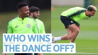 JESUS vs SANE... DANCE OFF! | TRAINING AFTER MANCHESTER DERBY