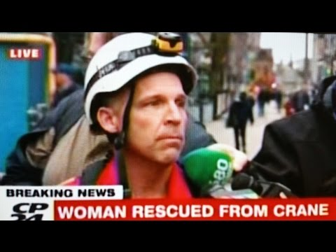 Toronto Fire Services: Woman rescued from crane