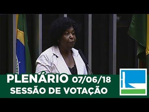 PLENÁRIO - Sessão Deliberativa - 07/06/2018 - 09:00