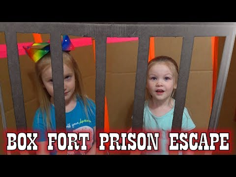 Box Fort Prison Escape Room! Breaking Out of Maximum Security!!! Controlled by Alexa