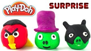 Opening Play-Doh Angry Birds Penguin Pig and More!
