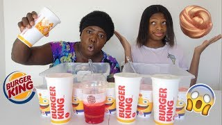 Don't Choose The Wrong Burger King Cup Slime Challenge! | Peachy Queen