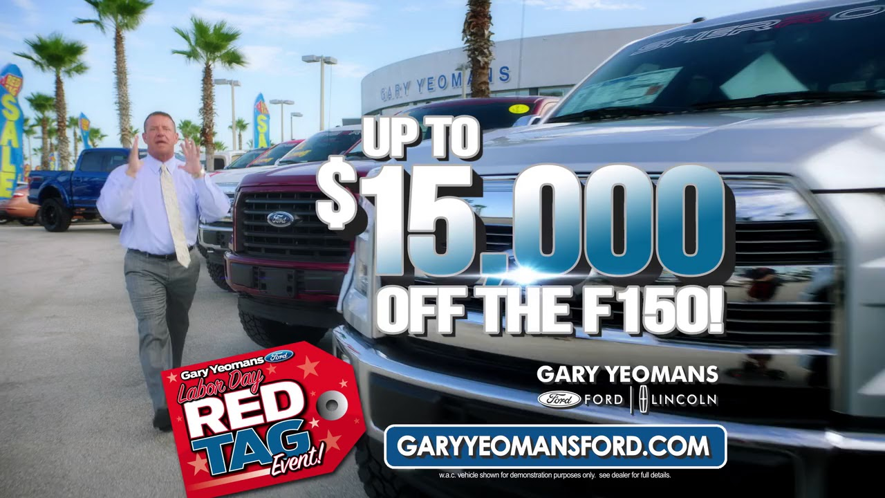 Labor Day Sales Event at Gary Yeomans Ford - YouTube