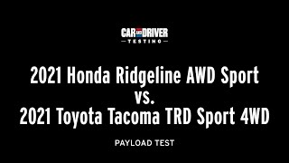 homepage tile video photo for Redesigned 2021 Ridgeline vs. 2021 Tacoma: Truck-Bed Capacity